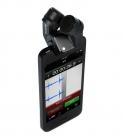 Microphone RODE iXY-L sur iPhone - vue de haut