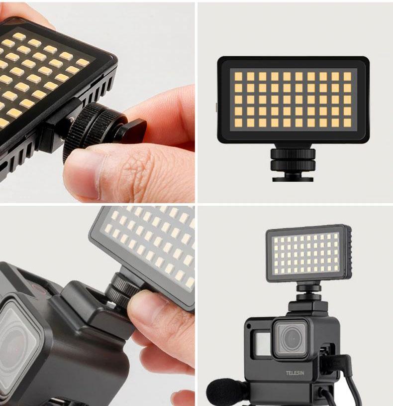 Minette LED avec filtres colorés - Telesin