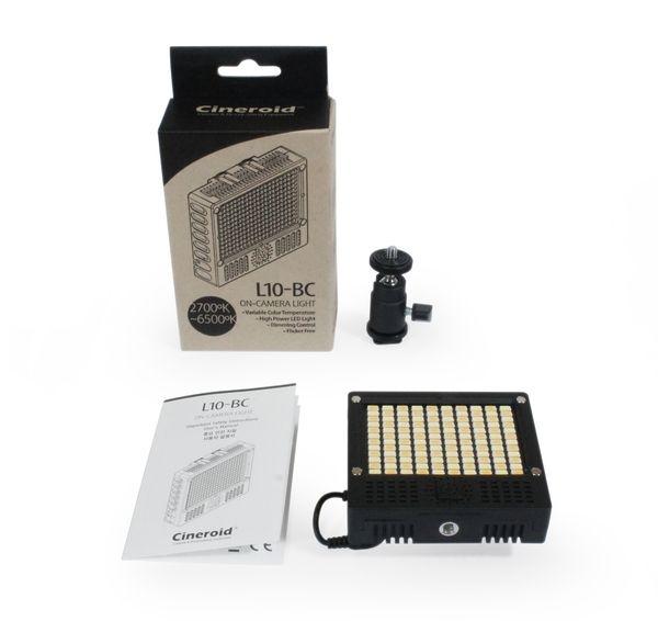 Minette LED Cineroid L10-BC avec ses accessoires