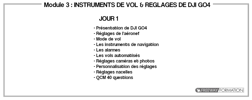 Module 3 - Maitrise de DJI GO4 by Freeway Formation