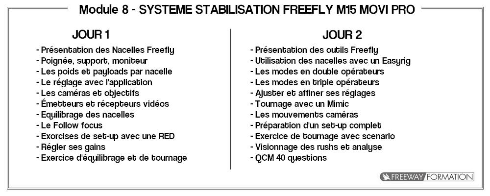 Module 8 - Système stabilisation freefly M15 Movi Pro