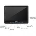 LCD 7 pouces BlackPearl Lite et les touches menu en façade