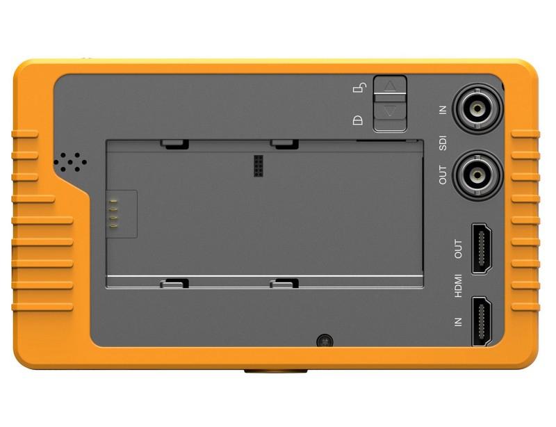 L'écran Lilliput Q5 possède deux entrées et deux sorties HDMI et SDI
