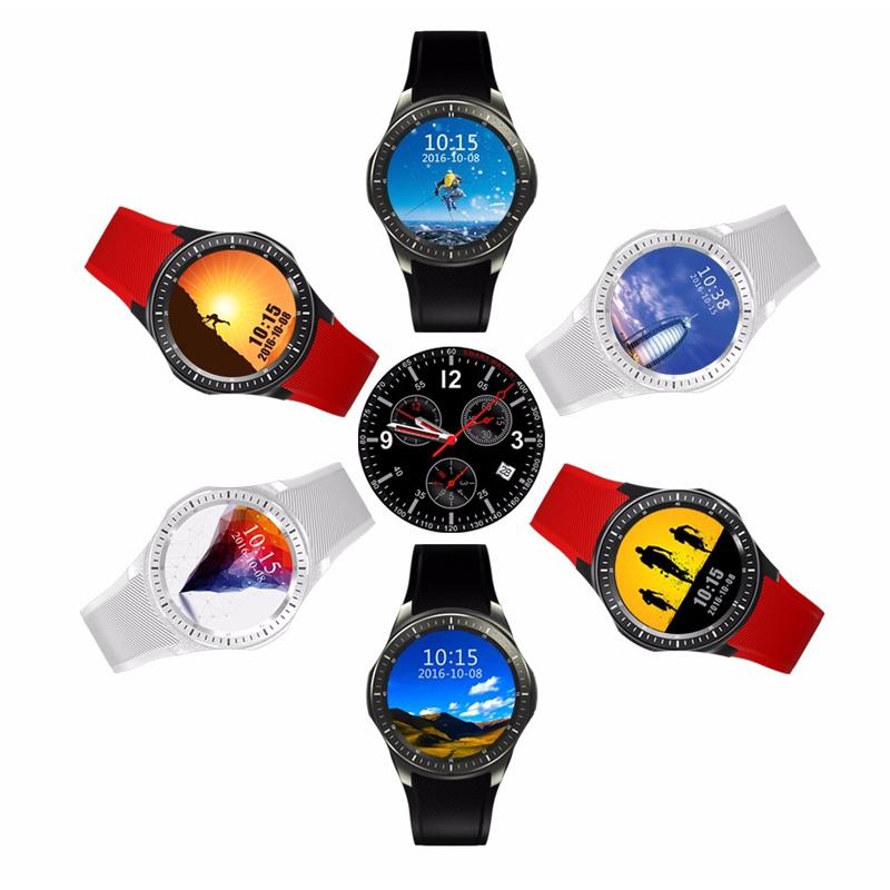 La montre connectée DM368 dispose de différents thèmes d'affichage de l'heure