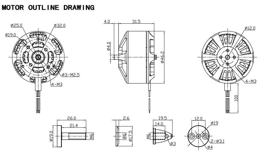 Moteur Racerstar Racing Edition BR4114 400KV 4-8S documentation technique