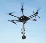 Moza Guru 360 Air Gudsen monté sur un drone