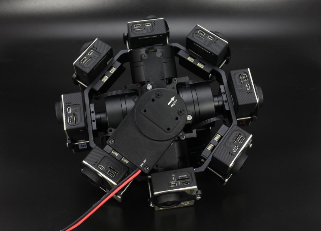Nacelle 360°/rig 3D pour caméras GoPro Hero
