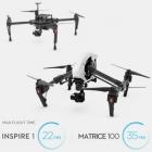 Vous aurez une autonomie confortable de 22 minutes sur le drone DJI Inspire 1 et jusqu\'à 35 minutes sur le DJI Matrice 100.