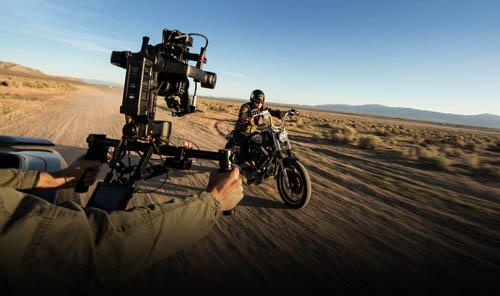 Nacelle DJI Ronin-M action desert biker