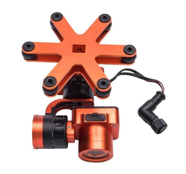 Nacelle et caméra 4K pour Splash Drone 3 - vue de haut