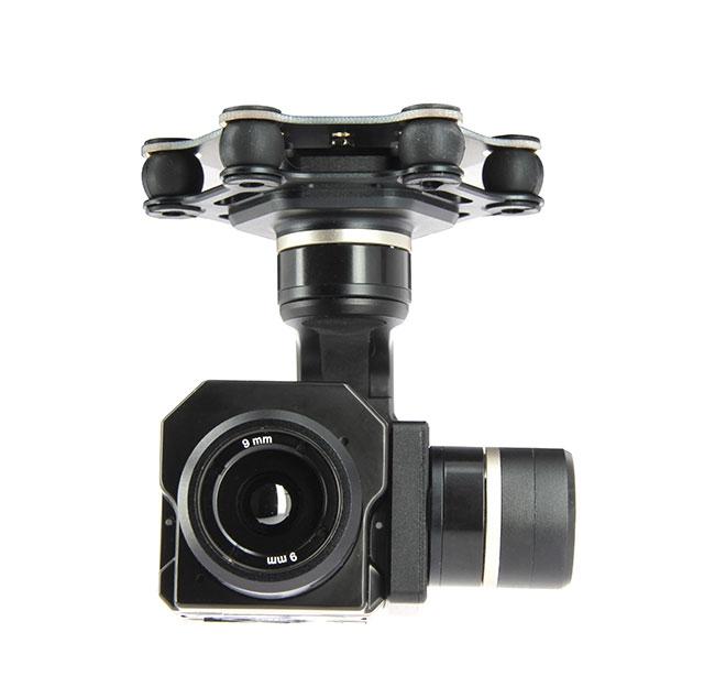 Nacelle 3 axes Feiyu FG pour caméras thermiques FLIR VUE PRO et TAU - vue de face
