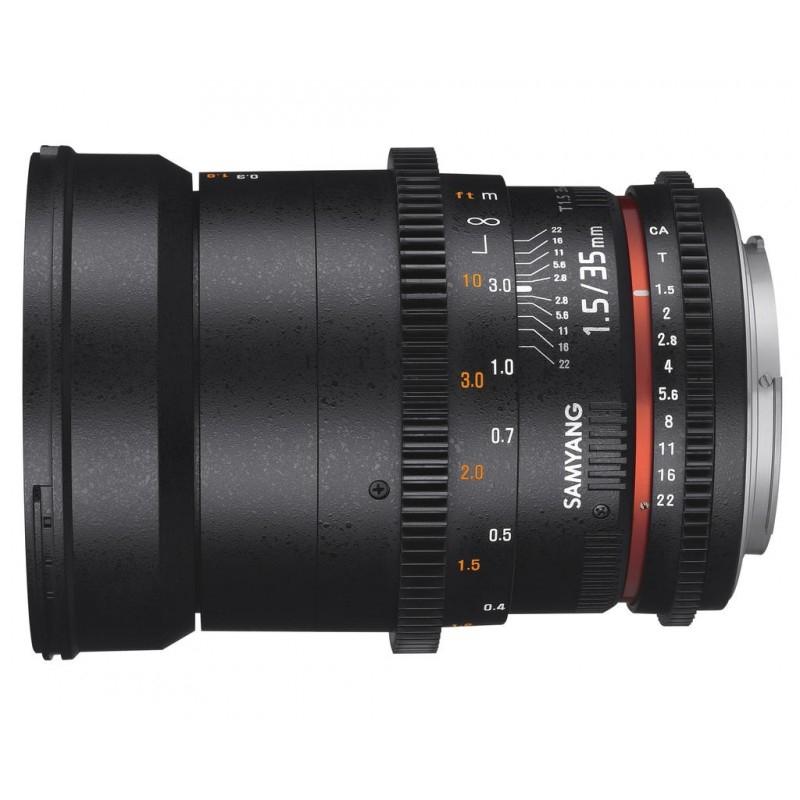 Objectif 35mm T1.5 VDSLR II monture EF - Samyang