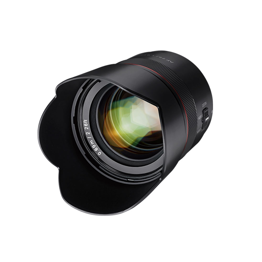 Objectif AF 75mm f/1.8 monture FE - Samyang