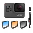 Pack 3 filtres gradués et stylo nettoyant pour GoPro Hero5 Black