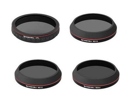 Pack 4 filtres pour DJI Zenmuse X4S (CPL, ND16, ND32, ND64)