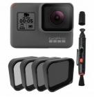 Pack 4 filtres ND et stylo de nettoyage pour GoPro Hero5 Black
