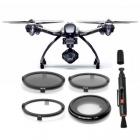 pack de 4 filtres (CPL, ND4, ND8 et UV) pour Yuneec Q500 4K & Typhoon H