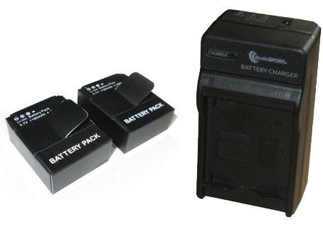 Pack chargeur + 2 batteries STS pour Hero3+