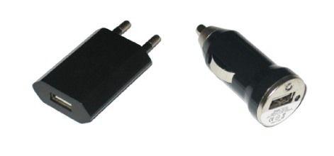 Pack chargeurs USB secteur et allume-cigare