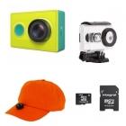 Pack studiosport chasse xiaomi yi cam et casquette vidéo-cap