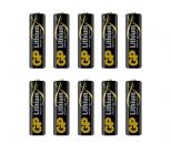 Pack de 10 piles Lithium GP