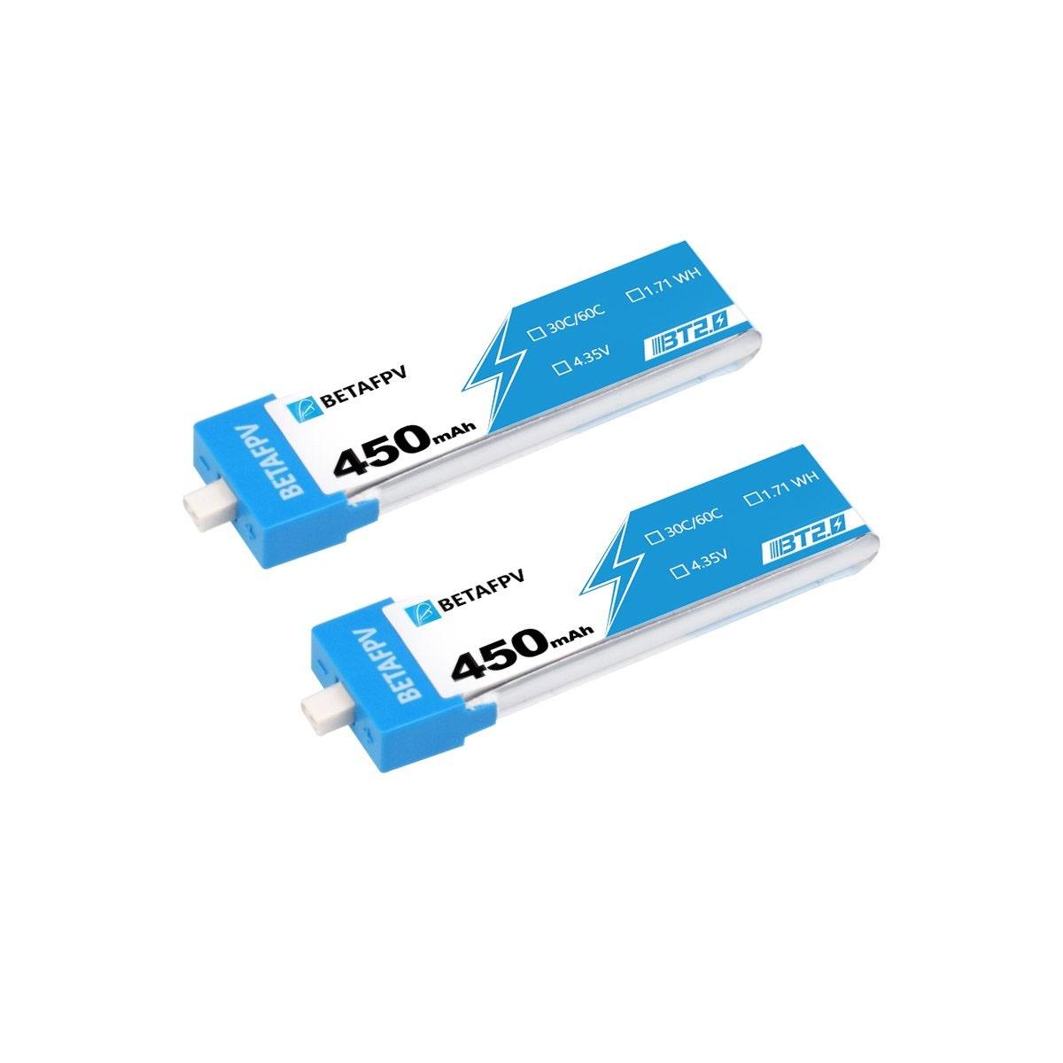 Pack de 4 batteries LiHV 1S 450mAh 30C (BT2.0) - BetaFPV