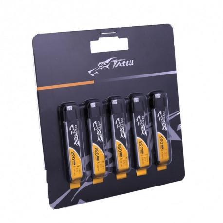 Pack de 5 batteries LiPo Tattu 1S 3.7V 220mAh