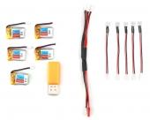 Pack de 5 batteries pour Eachine E010 1S 150mAh
