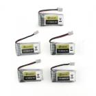 Pack de 5 batteries pour Eachine E011 1S 260mAh