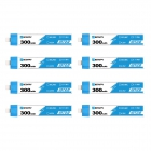 Pack de 8 batteries LiHV 1S 300 mAh 30C (BT2.0) - BetaFPV