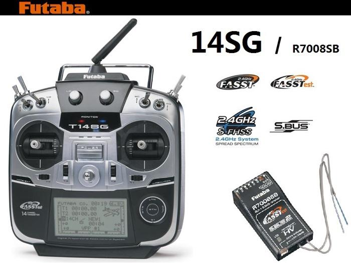 Radiocommande Futaba 14SG du TC1 avec récepteur