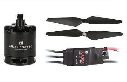 Pack Quadricoptère F450 + Air Gear 450 vue de la motorisation