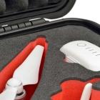 Zoom sur une partie de la valise Plaber pour DJI Phantom 4