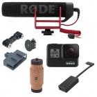 Pack Vlog GoPro Hero5/6/7 avec poignée et micro