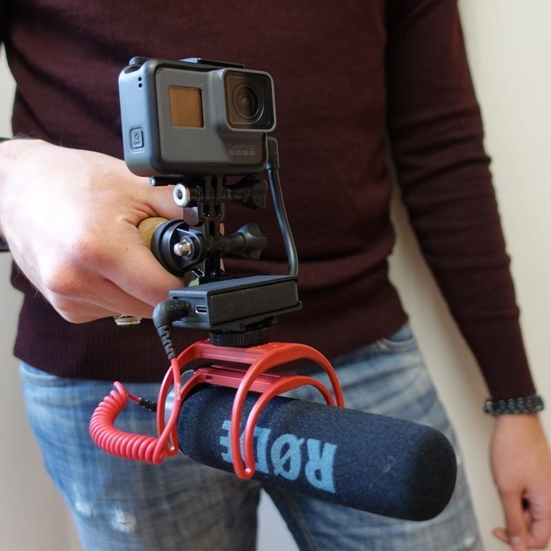 Pack Vlog GoPro Hero6 avec poignée et micro
