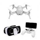 Pack complet comprenant le Yuneec Breeze 4K, la radiocommande Bluetooth et les lunettes FPV
