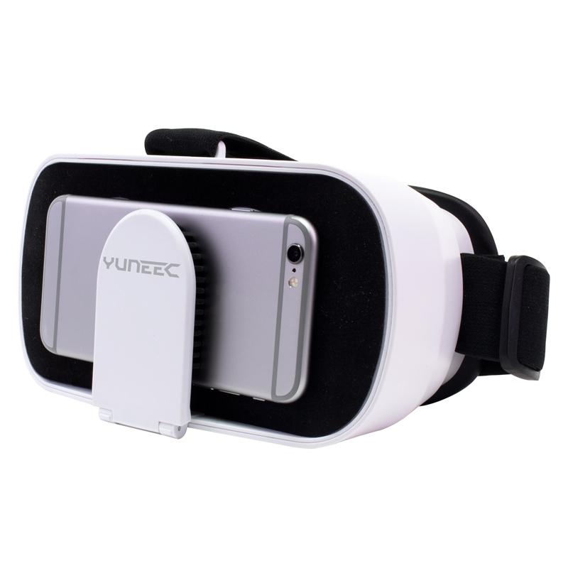 Les lunettes FPV permettent d'accueillir un smartphone afin de visionner le retour vidéo du Yuneec Breeze en immersion