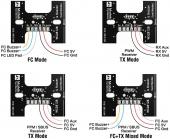 Pad de LED WS2812B & Buzzer Matek exemple de câblage