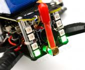Pad de LED WS2812B & Buzzer Matek fixé sur un drone