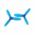 Paire d'hélices DYS XT3045 tripales Bleu