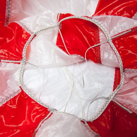 Parachute de secours 2.5m² Opale en gros plan
