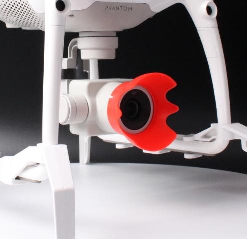 Pare soleil pour caméra Phantom 4 Pro vue de 3/4