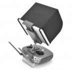 Pare-soleil PGY pliable installé sur une tablette sur la radio de l'Inspire 2 - vue de dos