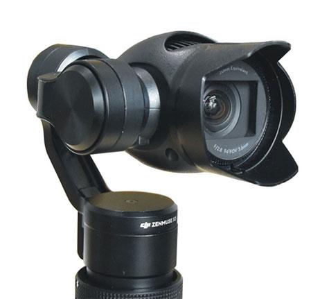 Pare-soleil pour caméra DJI X3 monté sur un Osmo