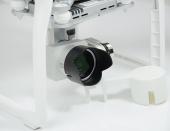 Pare-soleil pour caméra Phantom 4 Pro installé sur le drone