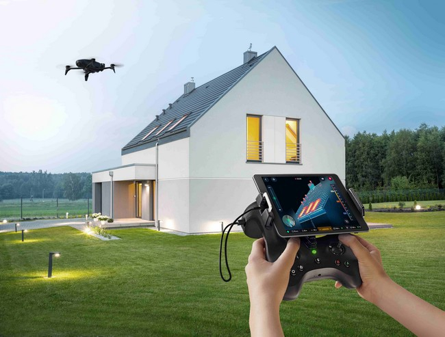 Parrot Bebop Pro Thermal en vol avec radio Skycontroller 2
