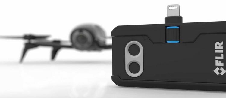 Caméra thermique FLIR ONE Pro avec drone Parrot Bebop Pro Thermal