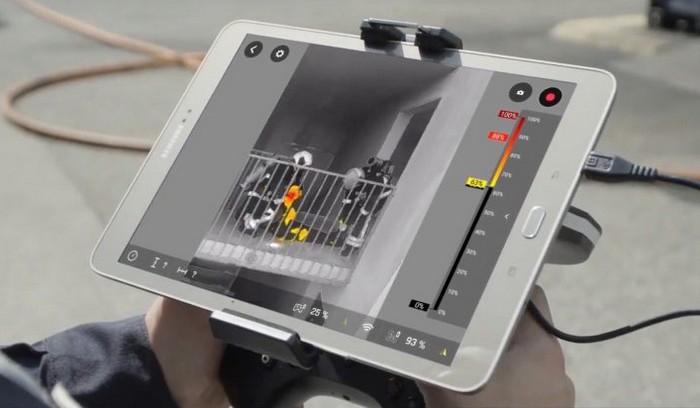Retour vidéo sur tablette du drone Parrot Bebop Pro Thermal