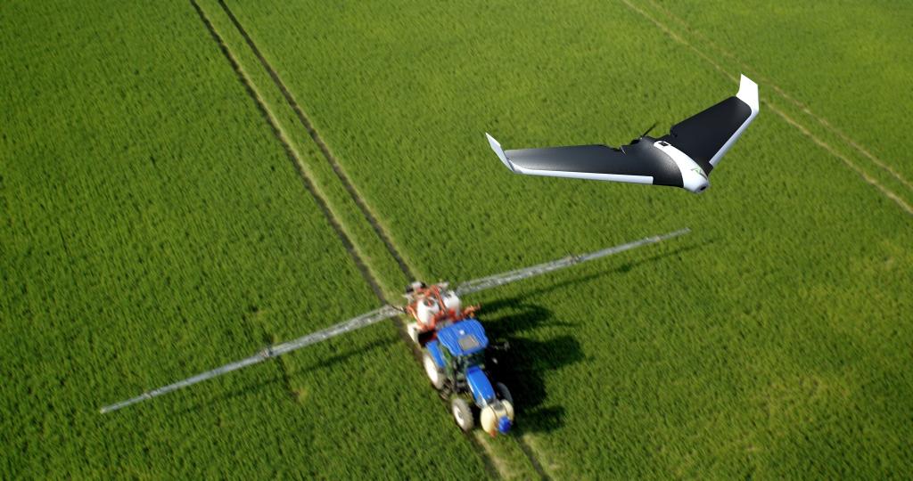 La Parrot Disco AG permet d'effectuer des relevés aériens précis sur l'état de santé des cultures