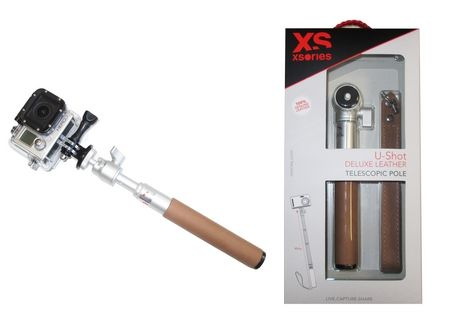Perche 50 cm UShot Deluxe Leather Xsories pour GoPro